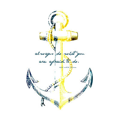 Always Do Anchor Poster by Brandi Fitzgerald