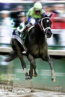 Always Dreaming, Johnny Velasquez, 143rd Kentucky Derby  Poster