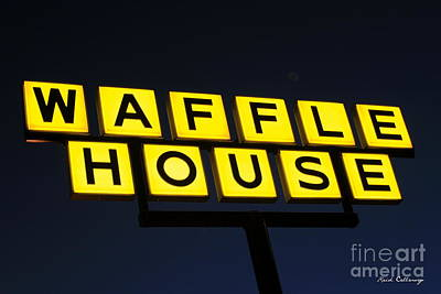 Always Open Waffle House Classic Signage Art  Poster