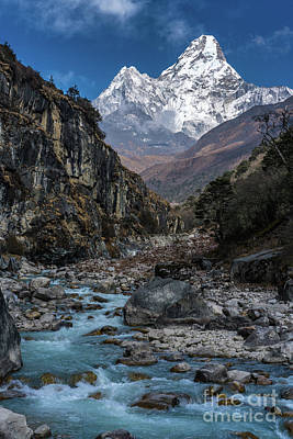 Ama Dablam In Nepal Poster by Mike Reid
