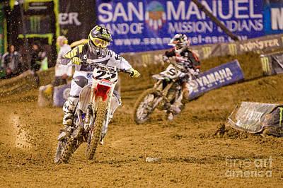 Ama Supercross In San Diego Poster by Daniel  Knighton