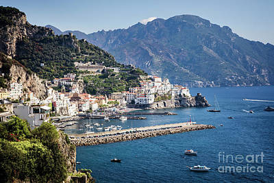 Poster featuring the photograph Amalfi Harbor by Scott Kemper