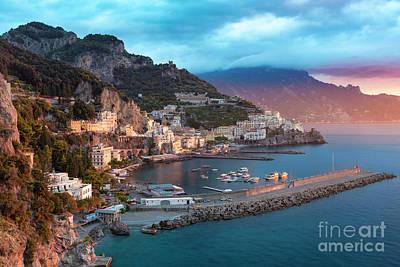 Amalfi Sunrise Poster