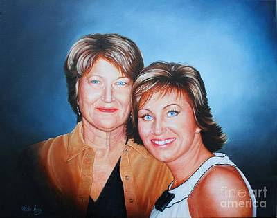 Poster featuring the painting Amanda And Mom by Mike Ivey