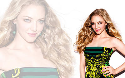 Amanda Seyfried 2014 Poster by F S