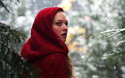 Amanda Seyfried In Red Riding Hood Poster by F S