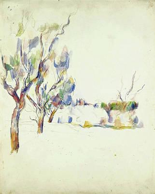 Amandiers En Provence. Allee Du Jas De Bouffan Poster