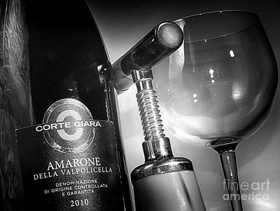 Amarone Black And White Poster by Stefano Senise