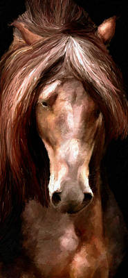 Poster featuring the painting Amazing Horse by James Shepherd