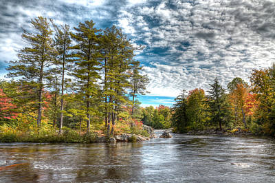 Amazing September Day On The River Poster by David Patterson