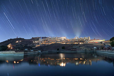 Poster featuring the photograph Amber Fort After Sunset by Pradeep Raja Prints