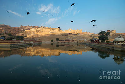 Poster featuring the photograph Amber Fort  by Yew Kwang