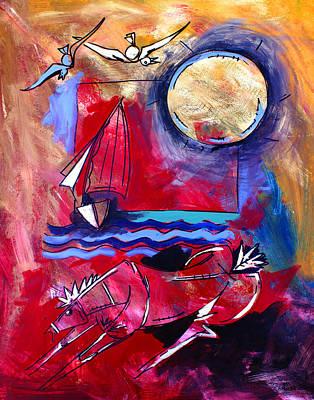 Ameeba 34-horse And Sailboat Poster