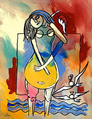 Ameeba- Pear Woman Poster