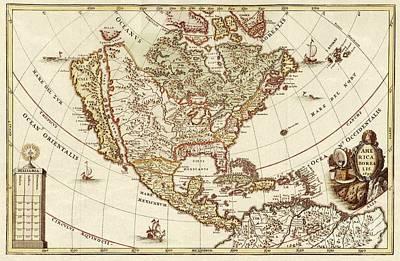 America Borealis 1699 Poster
