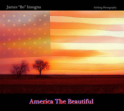 America The Beautiful Country Poster Poster by James BO  Insogna