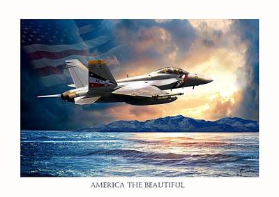 America The Beautiful Poster by Regina Femrite