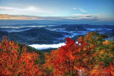 America The Beautiful Looking Glass Rock Blue Ridge Mountain Parkway Art Poster by Reid Callaway