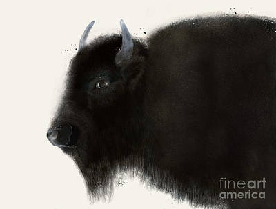 Poster featuring the painting American Buffalo by Bri B