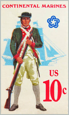American Continental Marines Poster by Lanjee Chee