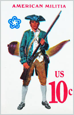 American Continental Militia Poster by Lanjee Chee