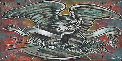 American Eagle Folk Art Poster