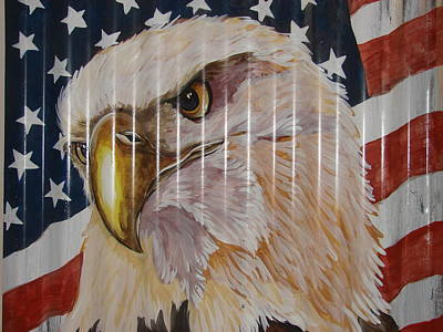 Poster featuring the painting American Eagle by Patty Sjolin