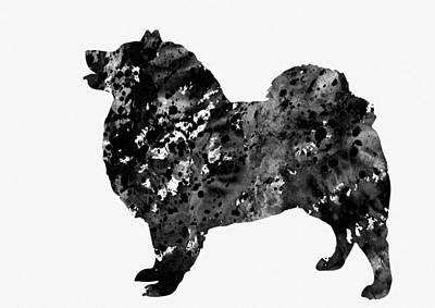 American Eskimo Dog-black 2 Poster