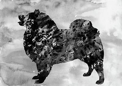 American Eskimo Dog-black Poster