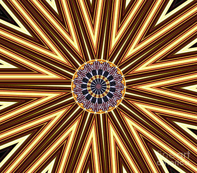 American Flag And Fireworks Kaleidoscope Abstract 1 Poster by Rose Santuci-Sofranko