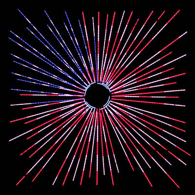 American Flag Burst Of Pride Square Poster