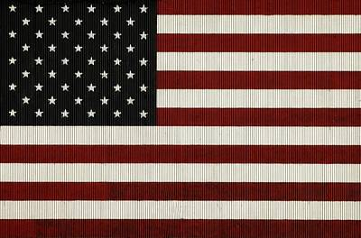 American Flag Mural On A Tin Barn Poster by Chris Berry