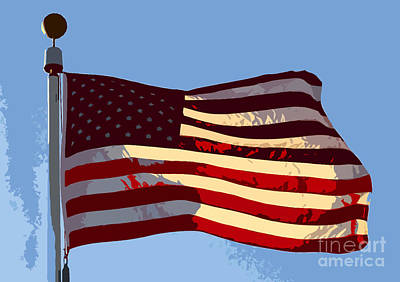 American Flag Poster by David Lee Thompson