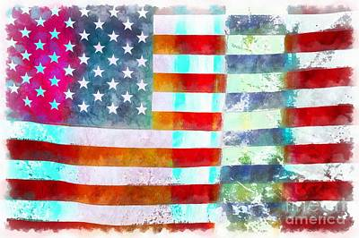 American Flag Poster by Edward Fielding