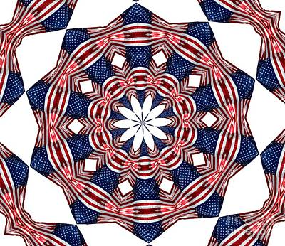 American Flag Kaleidoscope Abstract 3 Poster by Rose Santuci-Sofranko