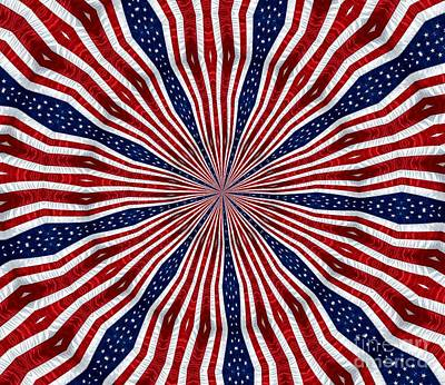 American Flag Kaleidoscope Abstract 6 Poster by Rose Santuci-Sofranko