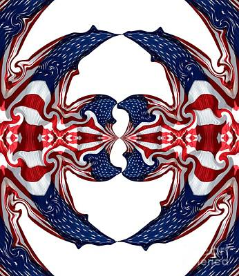 American Flag Polar Coordinate Abstract 1 Poster by Rose Santuci-Sofranko