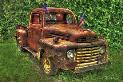 American Ford 1950 F-1 Ford Pickup Truck Art Poster