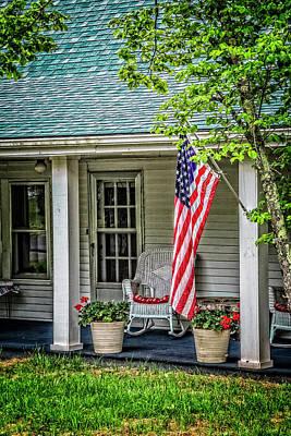 American Front Porch Poster by Debra and Dave Vanderlaan