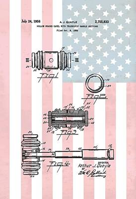 American Law Gavel Patent Poster by Dan Sproul
