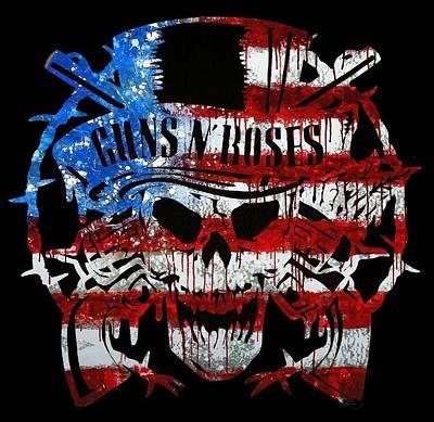 American Made Guns N Roses Poster by Michael Bergman