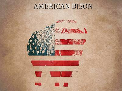 American Mammal The Bison Poster