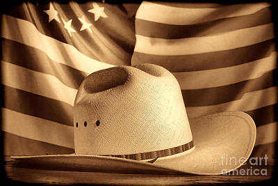American Rodeo Cowboy Hat Poster
