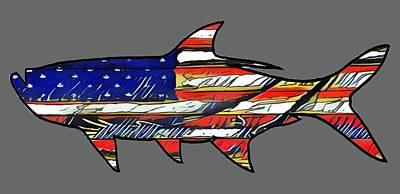 American Tarpon Poster by Michael Garber