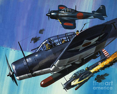 American Torpedo Planes Of World War Two Poster by Wilf Hardy