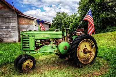 American Tractor Poster by Debra and Dave Vanderlaan