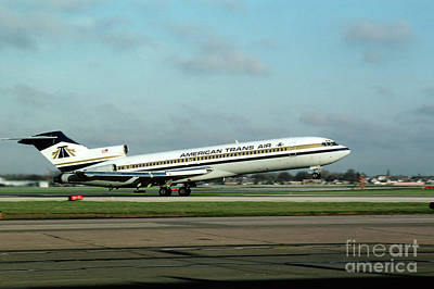 American Trans Air Boeing 727 Taking-off Poster by Wernher Krutein