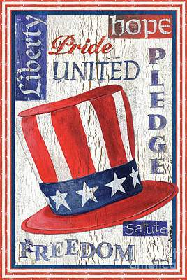 Americana Patriotic Poster by Debbie DeWitt