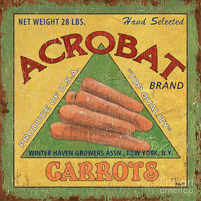 Americana Vegetables 2 Poster by Debbie DeWitt