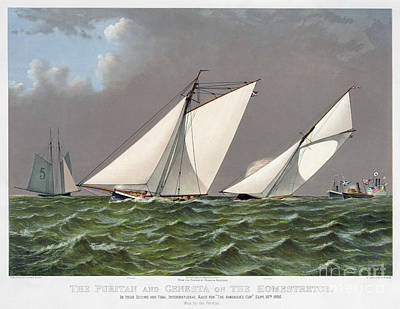 Americas Cup, 1885 Poster